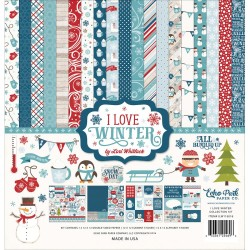 "Carte I Love Winter Collection Kit 12""x12"" Echo Park"
