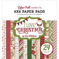 "Carte I Love Christmas Paper Pad 6""x6"" Echo Park"