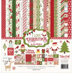 "Carte I Love Christmas Collection Kit 12""x12"" Echo Park"
