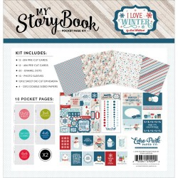 "Carte I Love Winter My Story book Pocket Page Kit 12""x12"" Echo Park"