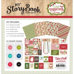 "Carte I Love Christmas My Story book Pocket Page Kit 12""x12"" Echo Park"