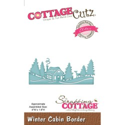 Winter Cabin Border CottageCutz Die