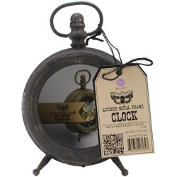"Altered Metal Frame Clock 3,5""x6,25""x9"" Prima Marketing"