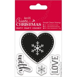 Nordic Heart Small Clear Stamps Papermania Docrafts