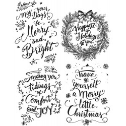 """Doodle Greetings 1 Tim Holtz Cling Rubber Stamp Set 7""""x8,5"""""""