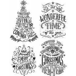 """Doodle Greetings 2 Tim Holtz Cling Rubber Stamp Set 7""""x8,5"""""""