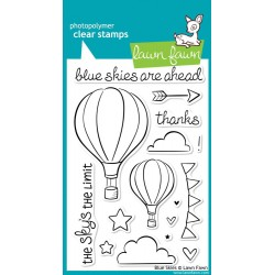 "Blue Skies Clear Stamps 4""x6"" Lawn Fawn"