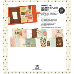 Persimmon The Reset Girl Carpe Diem A5 Planner Boxed Set Simple Stories