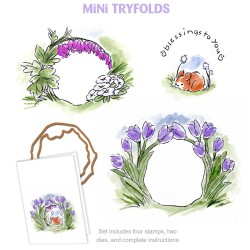 Blessings To You MTF Try'folds Cling Rubber Stamp Art Impressions