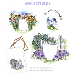 Hello Friend MTF Try'folds Cling Rubber Stamp Art Impressions