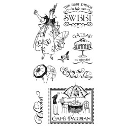 Timbri Cafè Parisian Cling Stamps by Graphic45 Hampton Art