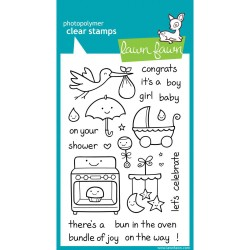 Plus One Photopolymer Clear Stamps Lawn Fawn