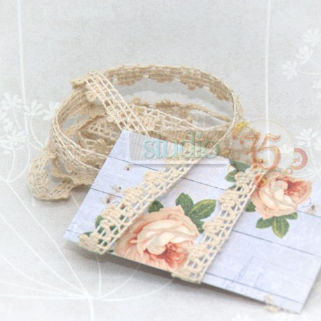 Beige Cotton Ribbon Studio75