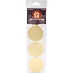 "Gold Foil 2"" Round Embosser Seal Stickers 32 Pkg Mason Row"