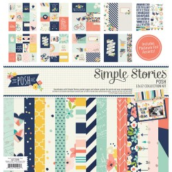 """Posh 12""""x12"""" Collection Kit Simple Stories"""