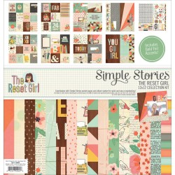 """The Reset Girl 12""""x12"""" Collection Kit Simple Stories"""