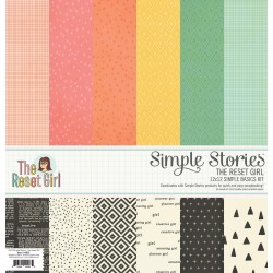 """The Reset Girl 12""""x12"""" Simple Basic Kit Simple Stories"""