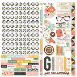 "The Reset Girl Combo Cardstock stickers 12""x12"" Simple Stories"