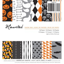 "Haunted Halloween Single-Sided Paper Pad 6""X6"" 36 Pkg American Crafts"