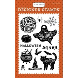 Halloween Haunts Clear Acrylic Designer stamps Carta Bella