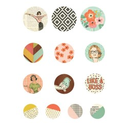 The Reset Girl Bradz Self-adhesive Embellishments Simple Stories