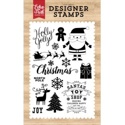 "Holly Jolly Clear Stamps 4"" x 6"" Echo Park"