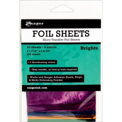 Brights Foil Sheets Ink Essential 10 Pkg Ranger