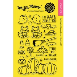 Trick or Treat Clear Stamp Set Waffle Flower Crafts