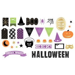 Halloween Ephemera Bits 40 Pkg American Crafts