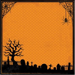 "Halloween Embellished Page Layout With 3D Design 12""x12"""