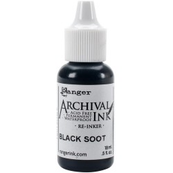 Black Soot Archival Ink RE-inker Ranger