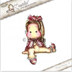 Timbro Sitting Cozy Tilda Magnolia Rubber Stamp - AH16