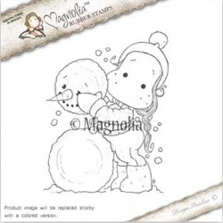 Timbro Me and my Snowman Magnolia Rubber Stamp - AH16