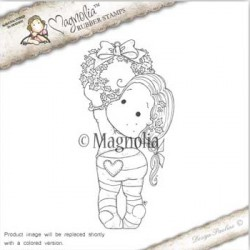 Timbro Holly Wreath Tilda Magnolia Rubber Stamp - AH16
