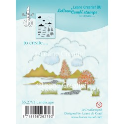 Landscape Clear Stamp Combi Stamp Leane Creatief