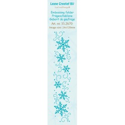 Border Snowflakes Embossing Folder Leane Creatief