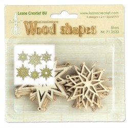 Stars Wood Shapes LeCreaDesign Leane Creatief