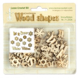 Snowflakes Wood Shapes LeCreaDesign Leane Creatief