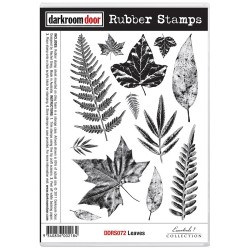 Leaves Rubber Stamps Darkroom Door