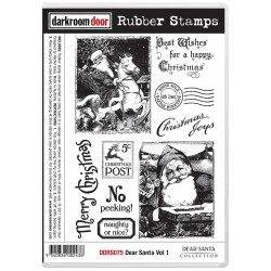 Dear Santa Vol 1 Rubber Stamps Darkroom Door