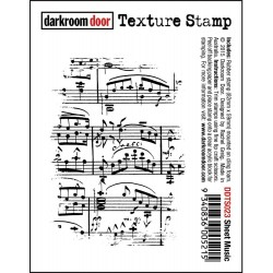 Timbro Sheet Music Texture Cling Rubber Stamp Darkroom Door