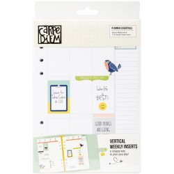 Vertical Weekly Planner Essentials Double-Sided Inserts A5 Carpe Diem Simple Stories
