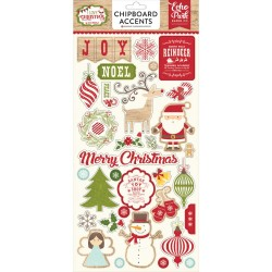 "I Love Christmas Adhesive Chipboard Stickers 6""x12"" Echo Park"