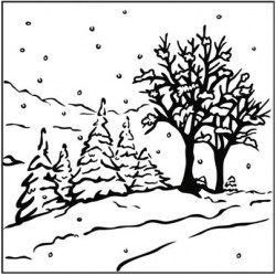 Winter Landscape Embossing Folder Nellie Snellen