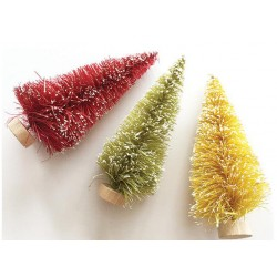 "Merry & Bright Bottle Brush Trees 3"" Fancy Pants"