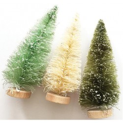 "Merry & Bright Bottle Brush Trees 5"" Fancy Pants"