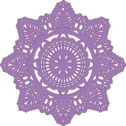 Crochet Doily Purple Metal Die Prima Marketing