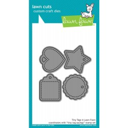 Tiny Tags Lawn Cuts Custom Craft Die Lawn Fawn