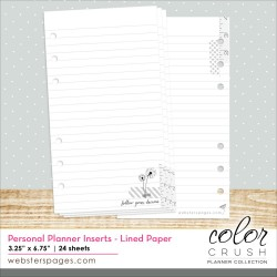 Lined Paper Inserts Color Crush Personal Planner Webster's Pages