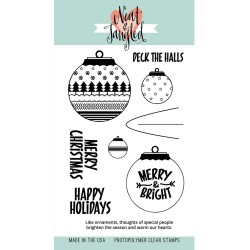 "Timbri Happy Ornaments Clear Stamps 4""x6"" Neat & Tangled"